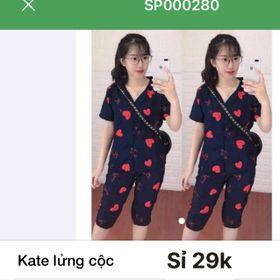 Xưởng sản xuất đồ bộ pizama giá rẻ kate thái Lửng giá sỉ