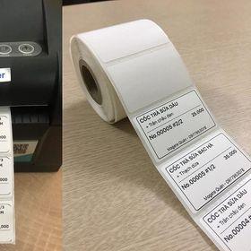 Cuộn 860 tem trà sữa 52x33 - Tem nhiệt in tem nhãn, in mã vạch, in tem phụ 52x33mm - 5.2x3.3cm. giá sỉ