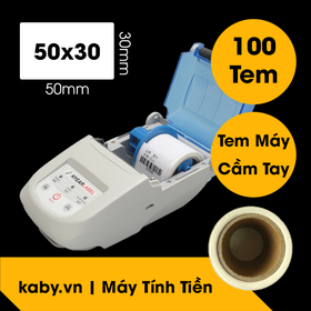 Cuộn 900 tem trà sữa 50x30 - Tem nhiệt in tem nhãn, in mã vạch, in tem phụ 50x30mm - 5x3cm. giá sỉ