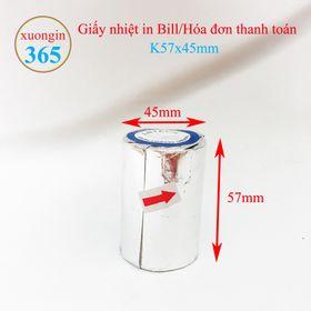 Giấy in hóa đơn nhiệt K57x45 mm giá sỉ