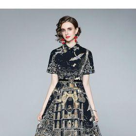 Đầm lụa xoè kèm nịt D991755 - Kho sỉ giá sỉ