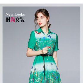 Đầm lụa dáng dài kèm nịt D981765 - Kho sỉ giá sỉ