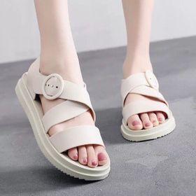 Giày Sandal Giày Nữ Quai Ngang Nữ Giày Quai Hậu Đế Bằng Nữ Phong Cách Nữ Sinh Ngọt Ngào giá sỉ
