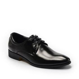 Giày Tây Nam Xỏ Dây Trơn Công Sở Màu Đen, Đế 3cm GT 6363 BQ giá sỉ