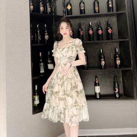 Váy hoa kiểu chất tằm xước siêu mát giá sỉ
