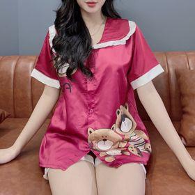 Đồ bộ nữ pijama gấu teddy Đùi Cộc giá sỉ