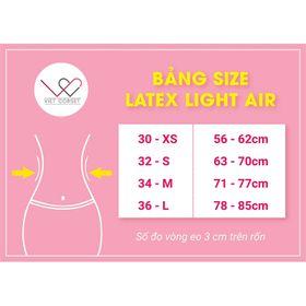 Latex Light Air với 17 xương thép giúp siết eo sâu hơn, định hình đa chiều giá sỉ